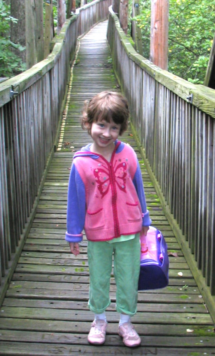 Emma on first day of school.